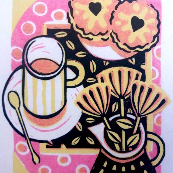 59-2 Linocut print